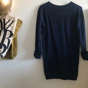 Italian wool navy sweater